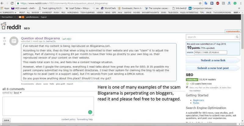 Reddit Blogarama